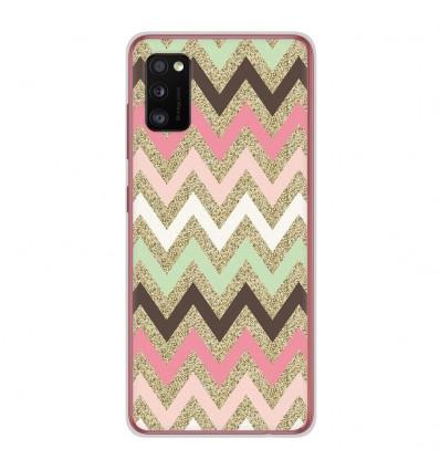 Coque en silicone Samsung Galaxy A41 - Texture rose