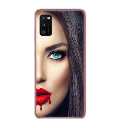 Coque en silicone Samsung Galaxy A41 - Lèvres Sang