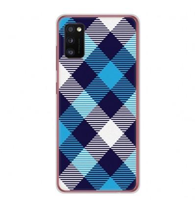 Coque en silicone Samsung Galaxy A41 - Tartan Bleu
