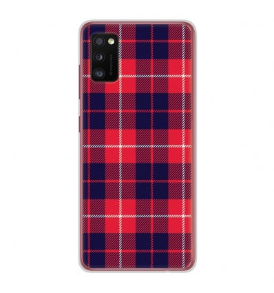 Coque en silicone Samsung Galaxy A41 - Tartan Rouge 2