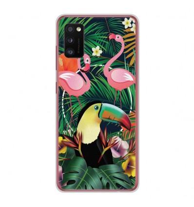 Coque en silicone Samsung Galaxy A41 - Tropical Toucan