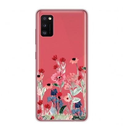 Coque en silicone Samsung Galaxy A41 - Printemps en fleurs
