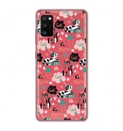 Coque en silicone Samsung Galaxy A41 - Miaou