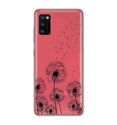 Coque en silicone Samsung Galaxy A41 - Pissenlits Noir
