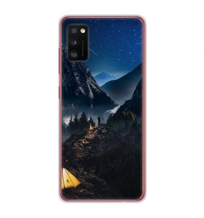 Coque en silicone Samsung Galaxy A41 - Seul en Montagne