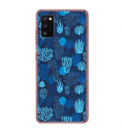 Coque en silicone Samsung Galaxy A41 - Corail bleu