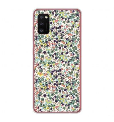 Coque en silicone Samsung Galaxy A41 - Liberty Wiltshire Vert