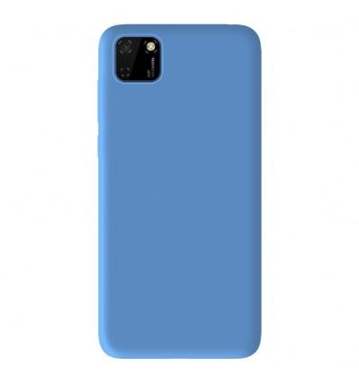 Coque Huawei Y5P Silicone Gel mat - Bleu Mat