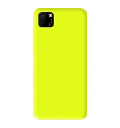 Coque Huawei Y5P Silicone Gel mat - Jaune Mat