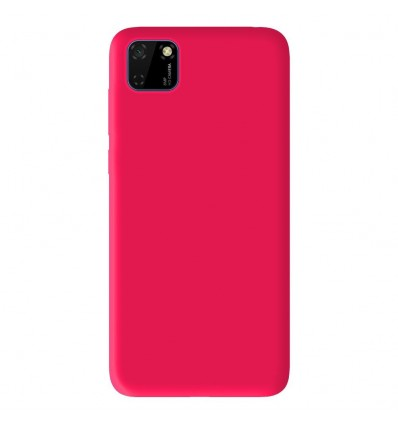 Coque pour Huawei Y5P Silicone Gel mat - Rose Mat