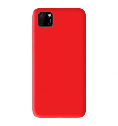 Coque Huawei Y5P Silicone Gel mat - Rouge Mat