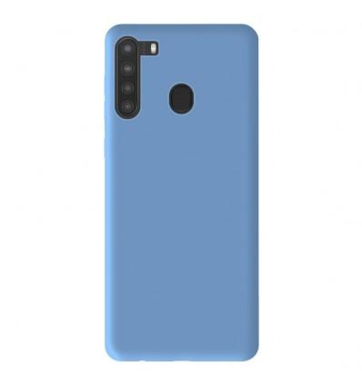 Coque Samsung Galaxy A21 Silicone Gel mat - Bleu Mat