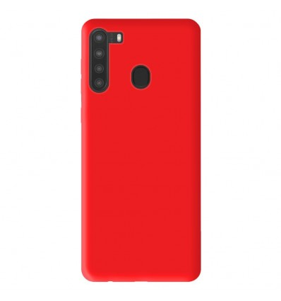 Coque Samsung Galaxy A21 Silicone Gel mat - Rouge Mat