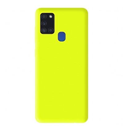 Coque Samsung Galaxy A21S Silicone Gel mat - Jaune Mat