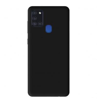 Coque pour Samsung Galaxy A21S Silicone Gel mat - Noir Mat