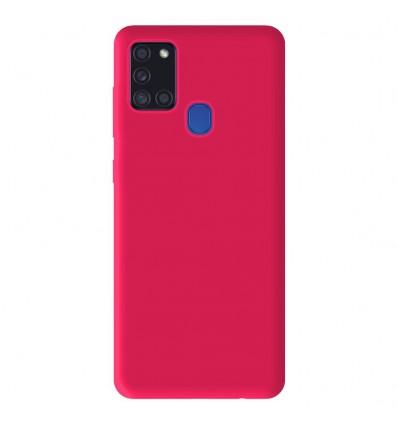 Coque Samsung Galaxy A21S Silicone Gel mat - Rose Mat
