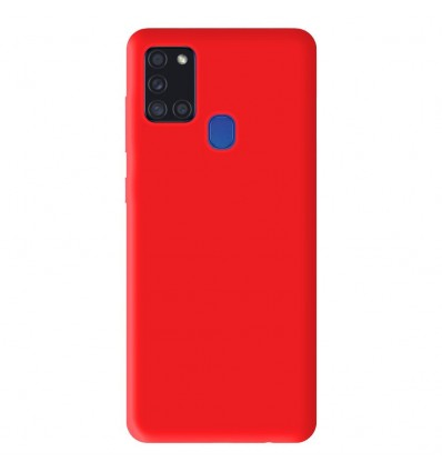 Coque Samsung Galaxy A21S Silicone Gel mat - Rouge Mat