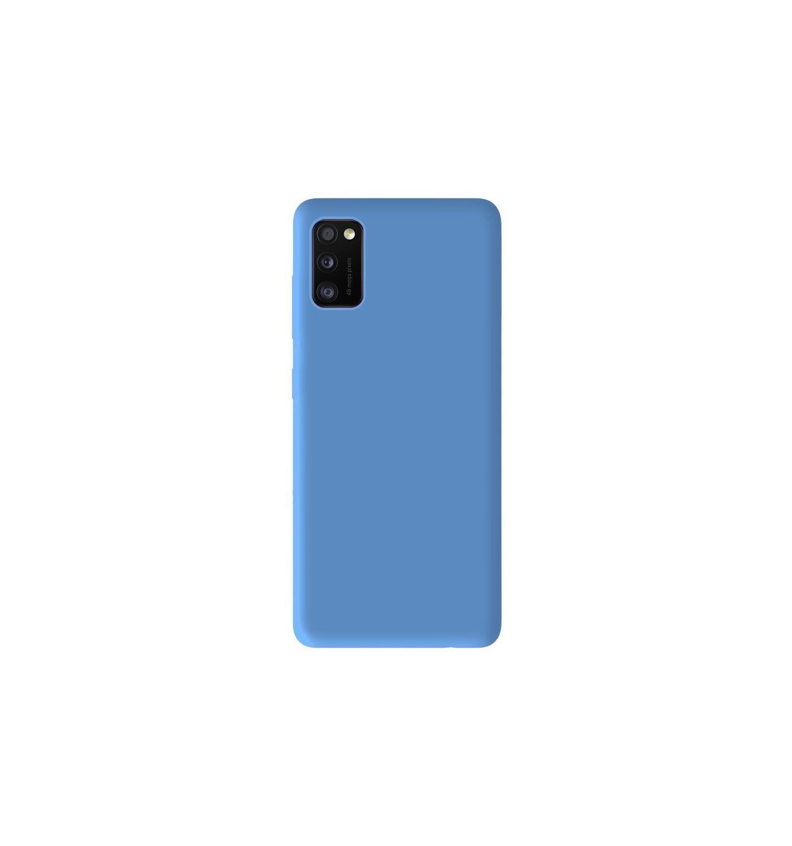 Coque Samsung Galaxy A41 Silicone Gel mat - Bleu Mat
