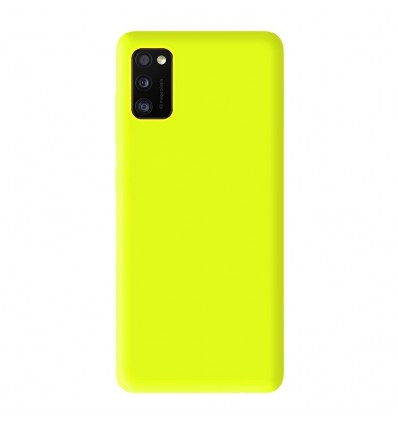 Coque Samsung Galaxy A41 Silicone Gel mat - Jaune Mat