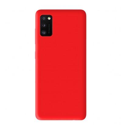 Coque Samsung Galaxy A41 Silicone Gel mat - Rouge Mat