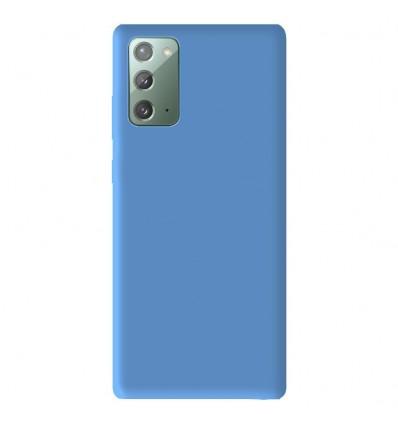 Coque Samsung Galaxy Note 20 Silicone Gel mat - Bleu Mat