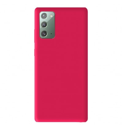 Coque Samsung Galaxy Note 20 Silicone Gel mat - Rose Mat