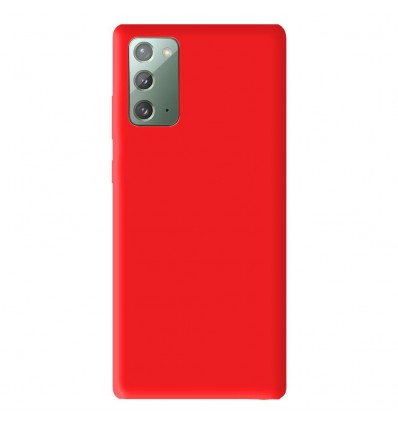 Coque Samsung Galaxy Note 20 Silicone Gel mat - Rouge Mat