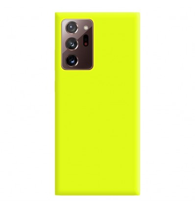 Coque Samsung Galaxy Note 20 Ultra Silicone Gel mat - Jaune Mat