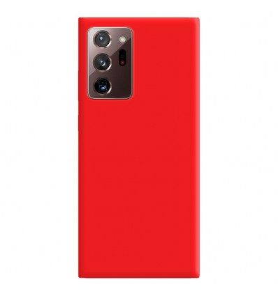 Coque Samsung Galaxy Note 20 Ultra Silicone Gel mat - Rouge Mat