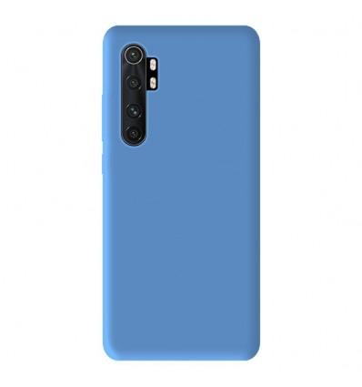Coque Xiaomi Mi Note 10 Lite Silicone Gel mat - Bleu Mat