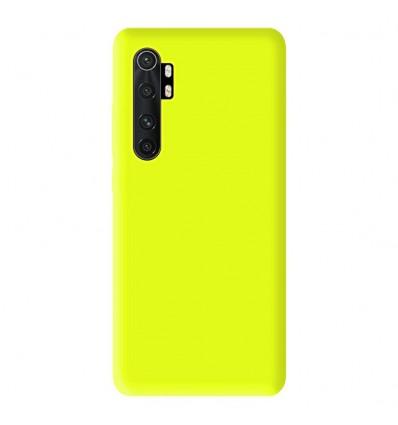 Coque Xiaomi Mi Note 10 Lite Silicone Gel mat - Jaune Mat