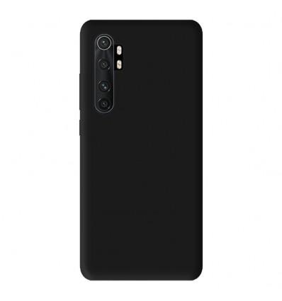 Coque pour Xiaomi Mi Note 10 Lite Silicone Gel mat - Noir Mat