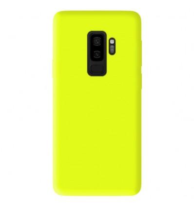 Coque Samsung Galaxy S9 Plus Silicone Gel mat - Jaune Mat