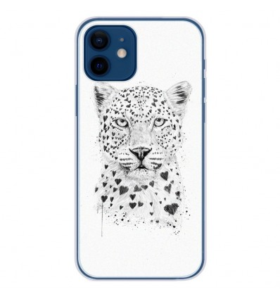 Coque en silicone Apple iPhone 12 - BS Love leopard