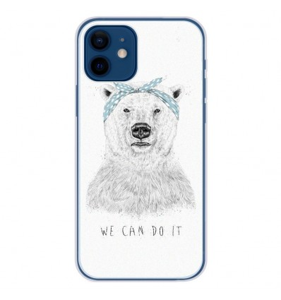 Coque en silicone Apple iPhone 12 - BS We can do it