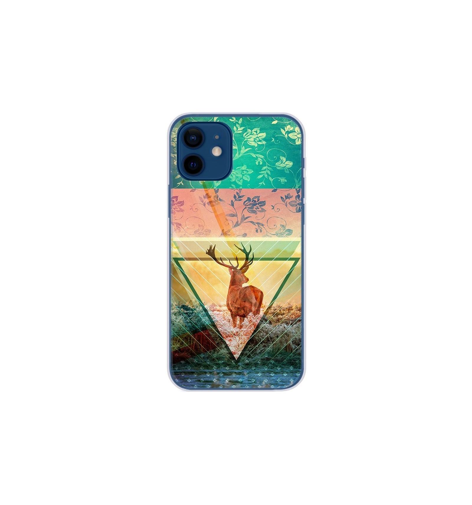 Coque en silicone Apple iPhone 12 - Cerf swag