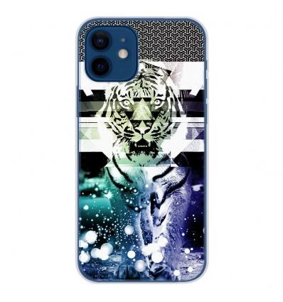Coque en silicone Apple iPhone 12 - Tigre swag