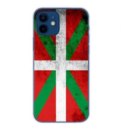 Coque en silicone Apple iPhone 12 - Drapeau Basque