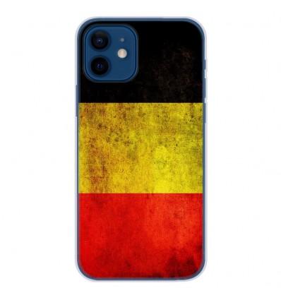Coque en silicone Apple iPhone 12 - Drapeau Belgique