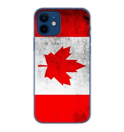 Coque en silicone Apple iPhone 12 - Drapeau Canada