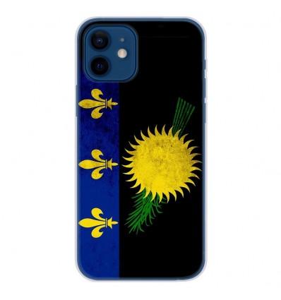 Coque en silicone Apple iPhone 12 - Drapeau Guadeloupe