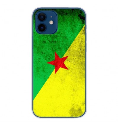 Coque en silicone Apple iPhone 12 - Drapeau Guyane