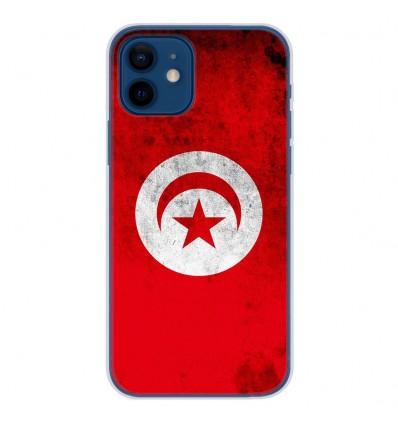 Coque en silicone Apple iPhone 12 - Drapeau Tunisie