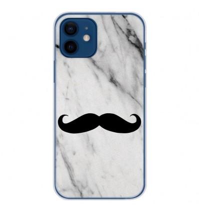 Coque en silicone pour Apple iPhone 12 - Hipster Moustache