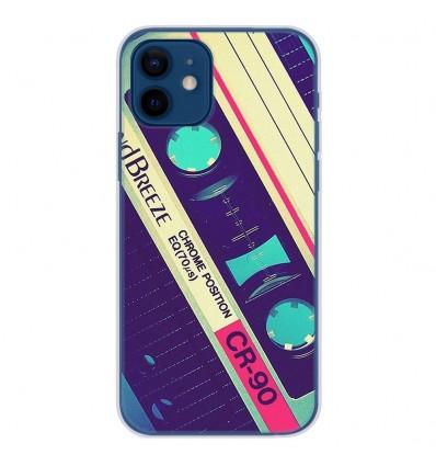Coque en silicone Apple iPhone 12 - Cassette Vintage