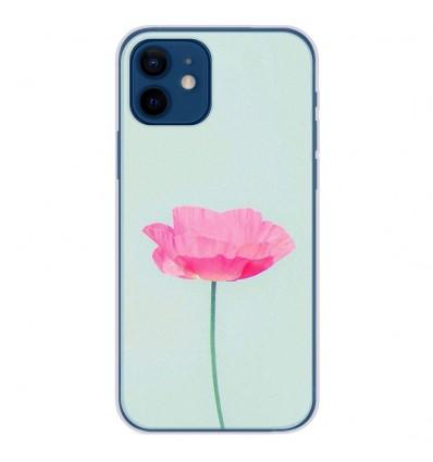 Coque en silicone Apple iPhone 12 - Fleur Rose