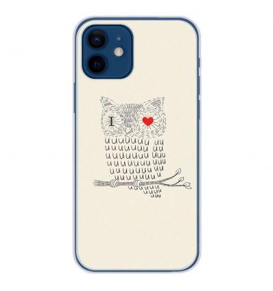 Coque en silicone Apple iPhone 12 - I Love Hiboux