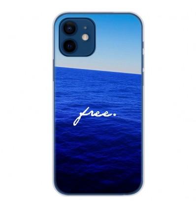Coque en silicone Apple iPhone 12 - Océan free