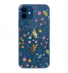 Coque en silicone Apple iPhone 12 - Fleurs colorées