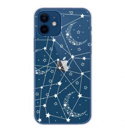 Coque en silicone Apple iPhone 12 - Lignes étoilées
